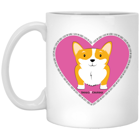 I Love My Corgi (Untoasted Pink) 11 oz. White Mug