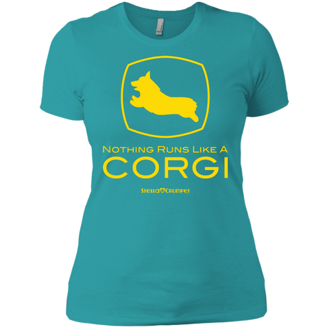 Runs like a Corgi (Front Only) Boyfriend Tee