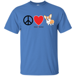 Peace Love Corgis (Front Only) Untoasted