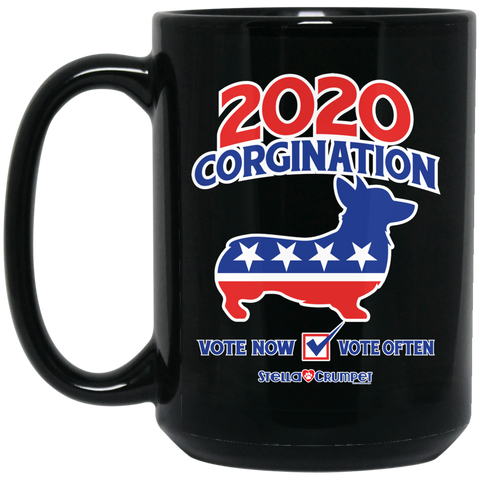 2020 Corgination 15 oz. Black Mug