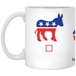 My Vote Corgis 11 oz. White Mug
