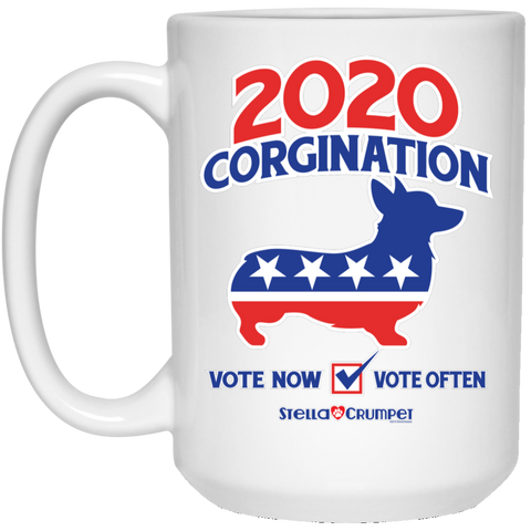 2020 Corgination 15 oz. White Mug