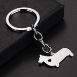 Corgi Pendant with Heart Keychain