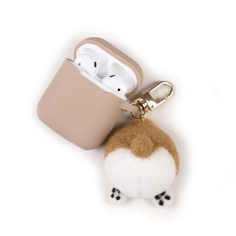 Corgi Butt Keychain with Protective CASE for Airpods