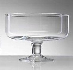 Footed Clear Glass Bowl 14cmD