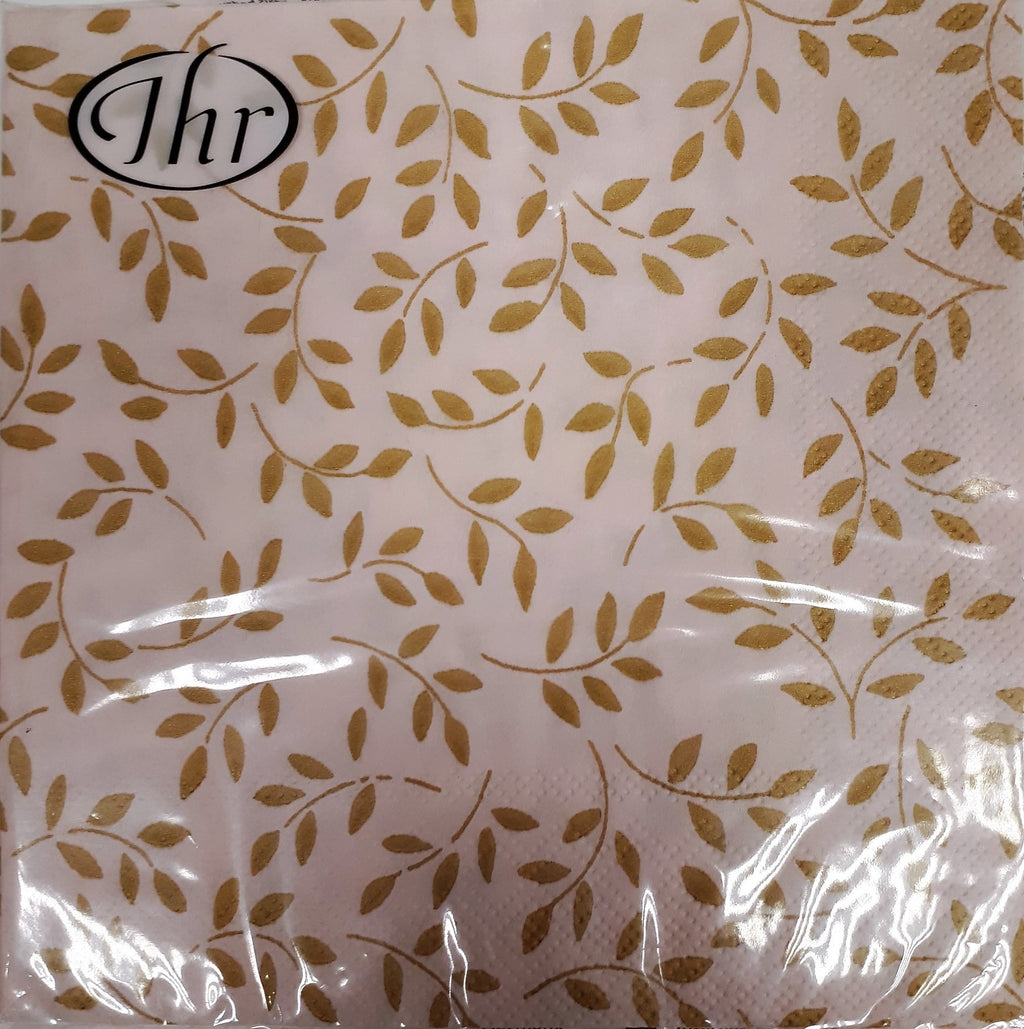 Napkin 'Folia Rose/Gold' 3ply - Luncheon