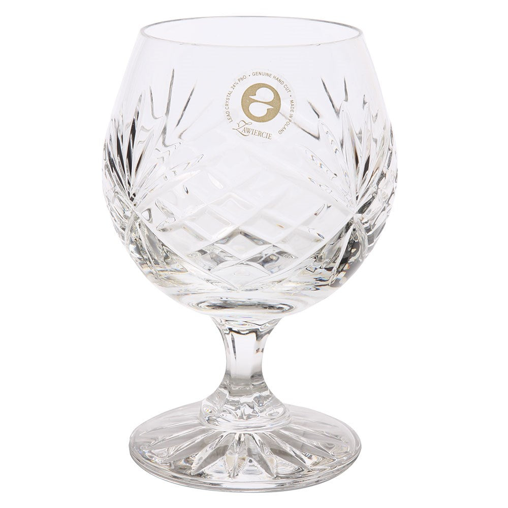 Irena Hand Cut Crystal Brandy Glass