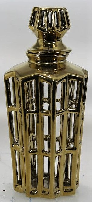 Gold Manzu Lidded Decanter