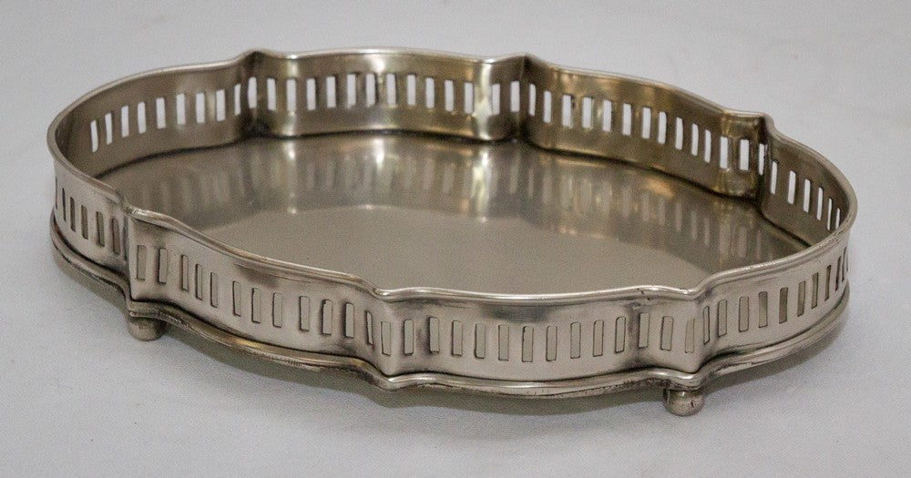 Pewter Scalloped Tray