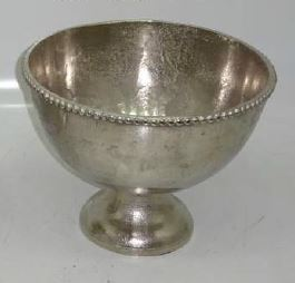 Footed Bowl Pewter 33cm