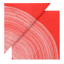 Fokus Red Cocktail Napkin