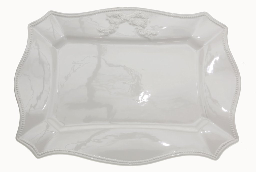 Ribbons White Platter