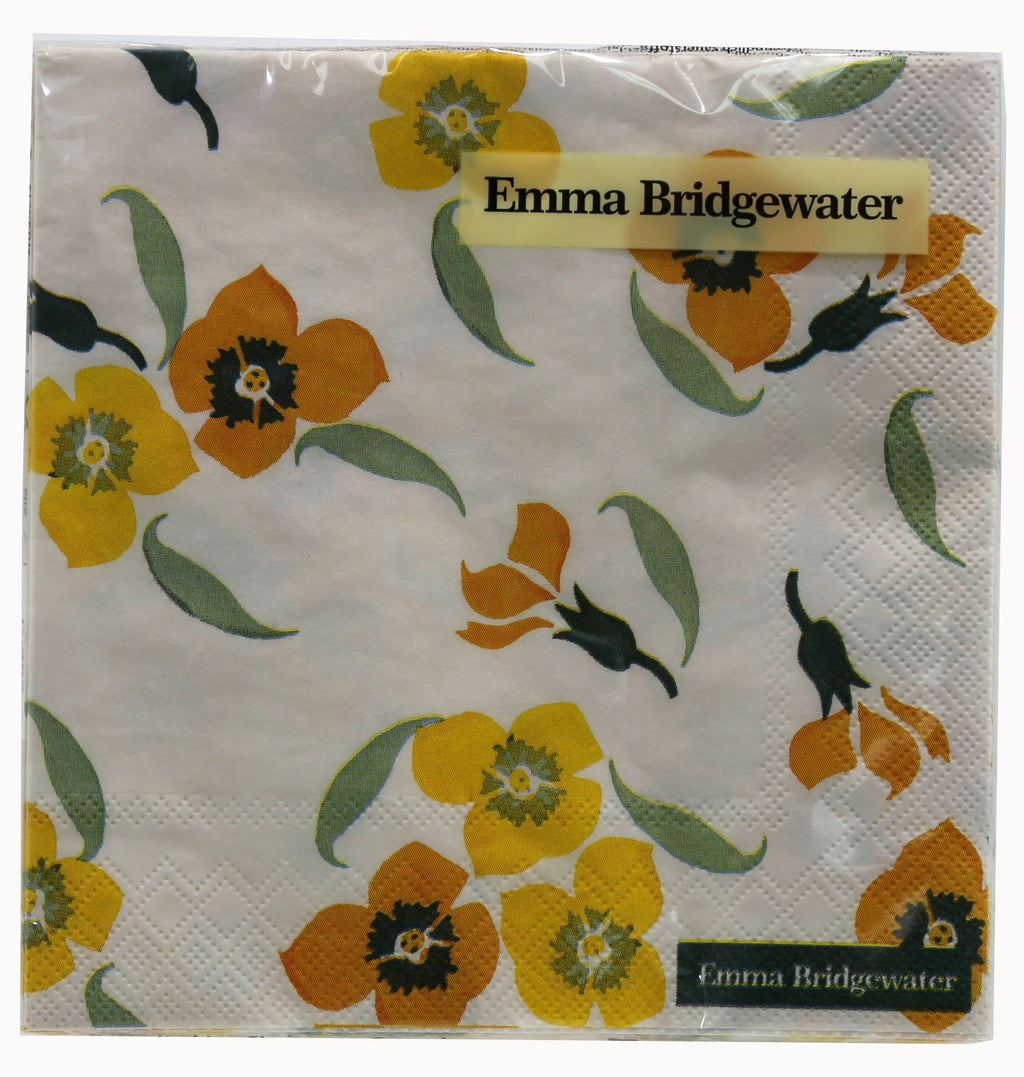 Napkin 'Emma Bridgewater Yellow Wallflower' 3ply - Luncheon