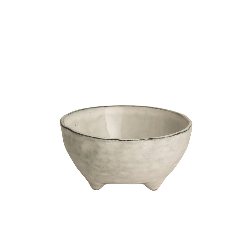 Broste Nordic Sand Large Bowl with Feet