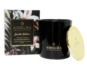Amoura Luxury Candle - Wild Fig & Blackcurrant SM