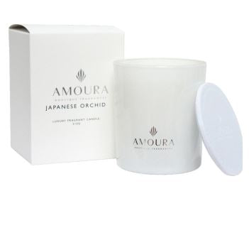 Amoura Luxury Fragrant Candle - Japanese Orchid LG