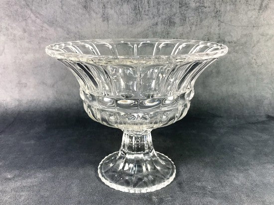 Grecian Cut Glass Bowl on Stand