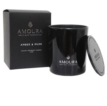 Amoura Luxury Fragrant Candle - Amber & Musk LG