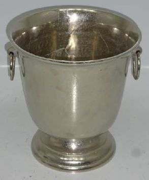 Champagne Bucket with Handles Pewter