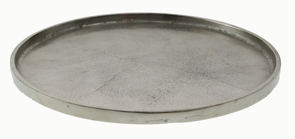 Plate Pewter Round 34cm