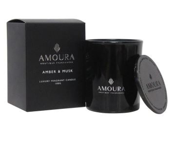 Amoura Luxury Fragrant Candle - Amber & Musk SM