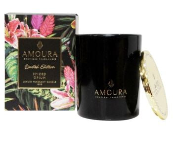 Amoura Luxury Candle - Spiced Opium LG