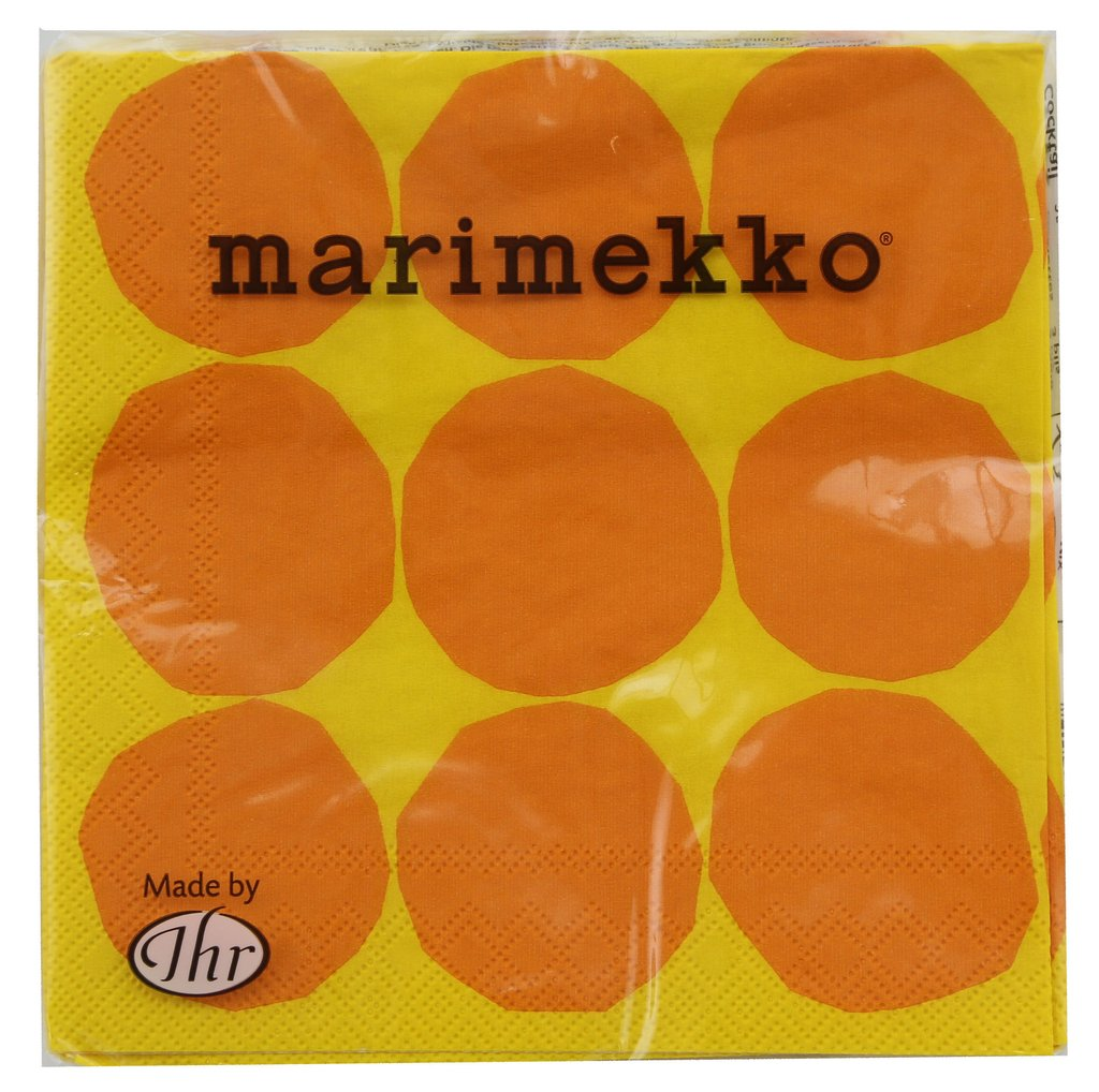 Napkin 'Marimekko Kivet Yellow' 3ply - Cocktail