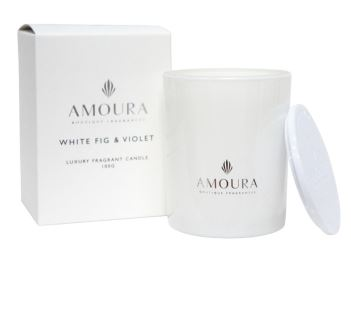 Amoura Luxury Fragrant Candle - White Fig & Violet SM