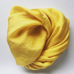 NZ Hand Dyed Natural Play Silk - little-eco-folk, yellow