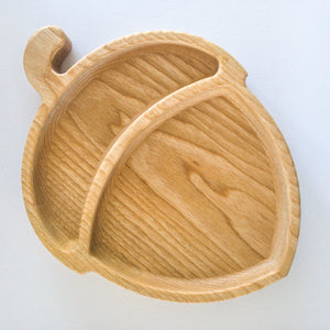 Eco-friendly Wooden Plate - Acorn - little-eco-folk