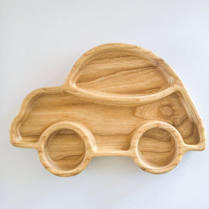 Eco-friendly Wooden Plate - Car - little-eco-folk