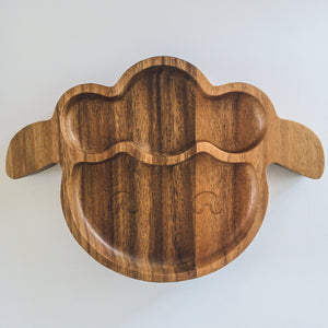 Eco-friendly Wooden Plate - Sheep - little-eco-folk