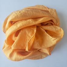 Load image into Gallery viewer, NZ Hand Dyed Natural Play Silk - little-eco-folk, Naturally dyed playsilk, orange