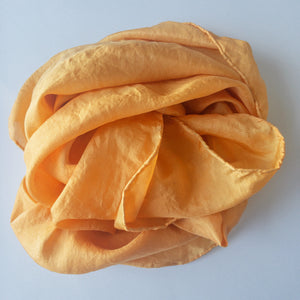 NZ Hand Dyed Natural Play Silk - little-eco-folk, Naturally dyed playsilk, orange