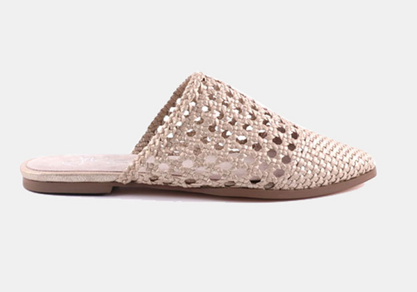 Julz Ari Leather Slip on - Champagne