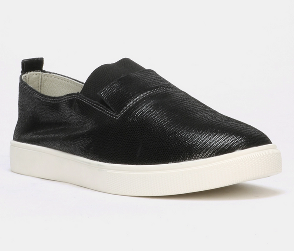 Julz Fran Leather Slip on Sneaker - Black