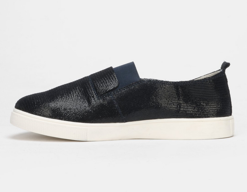 Julz Fran Leather Slip on Sneaker - Navy