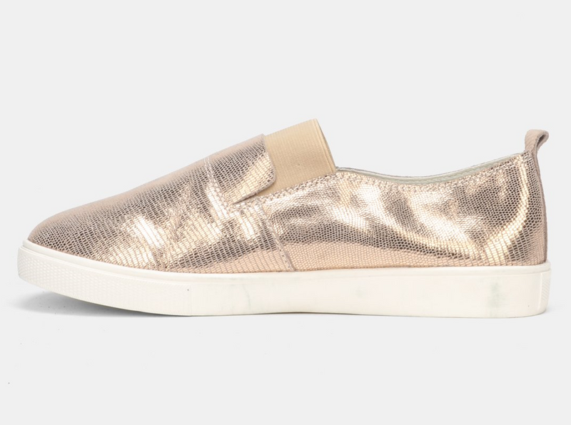 Julz Fran Leather Slip on Sneaker - Rose Gold