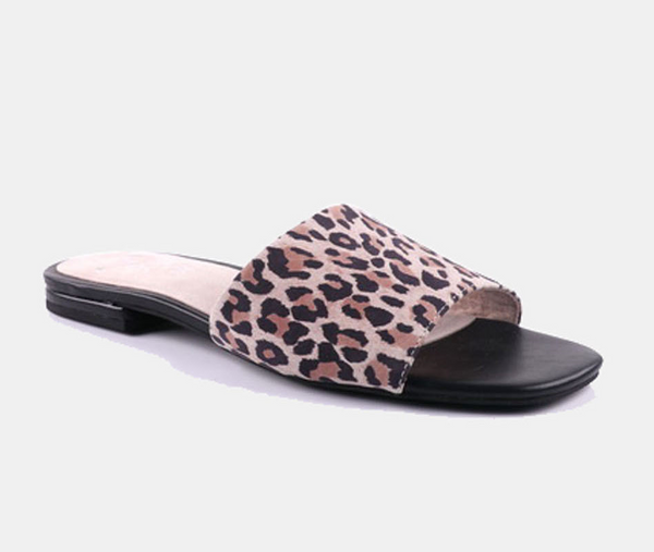 Julz Isla Leather slider - Animal