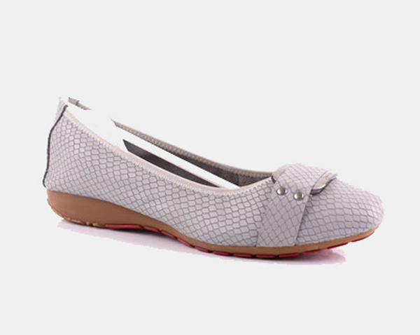Julz Joy Leather Pump - Grey