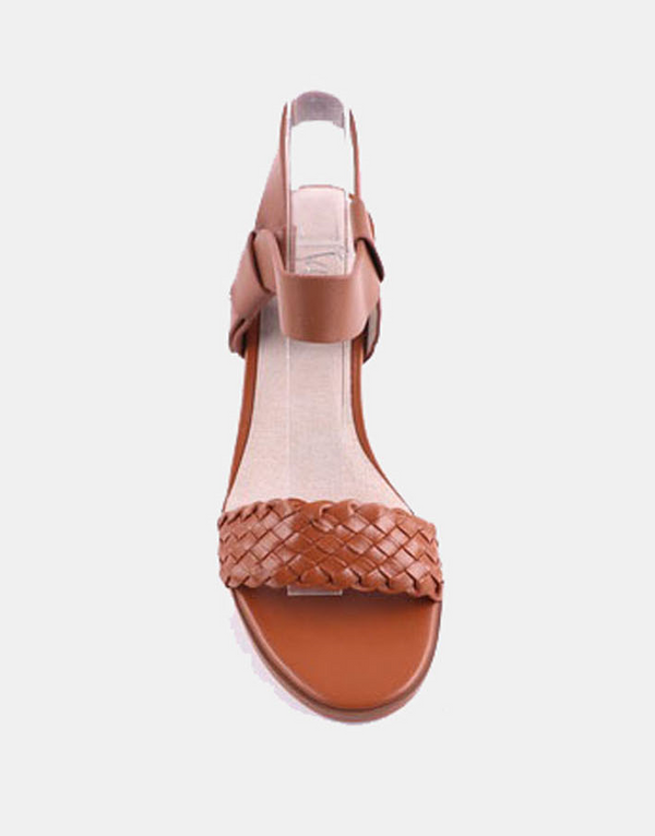 Julz Kira Leather Heels - Tan