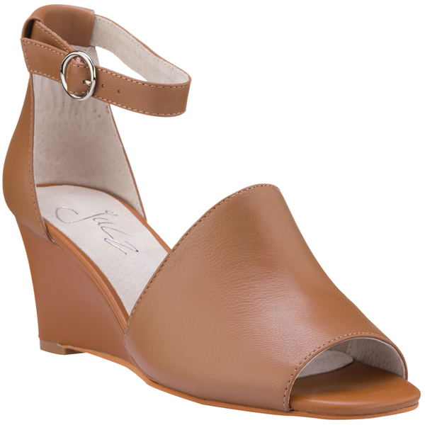 Julz Lily Leather Heels - Tan