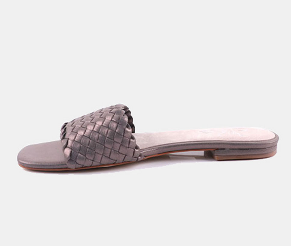 Julz Luna Leather Slider - Pewter