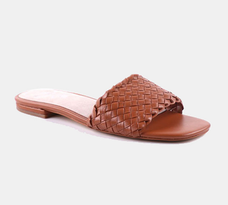 Julz Luna Leather Slider - Tan