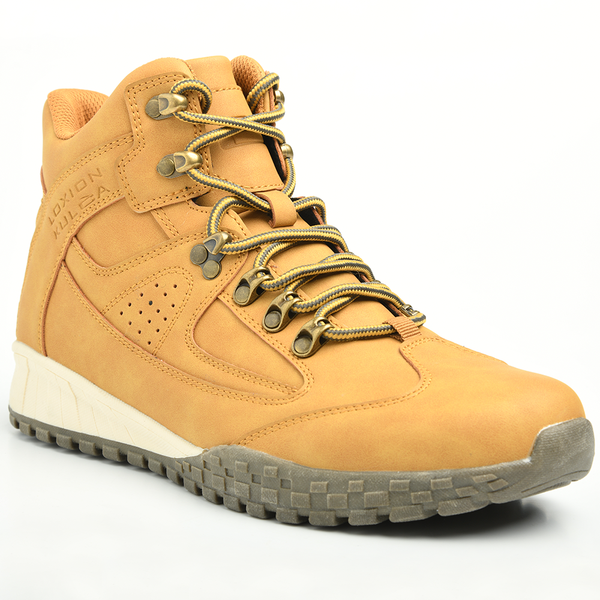Loxion Kulca Men's Tristan Lace Up High Top Boot - Honey