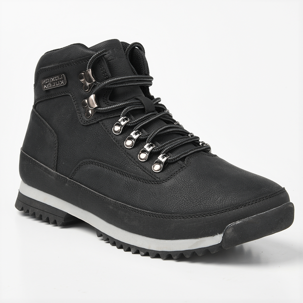 Loxion Kulca Men's Tristan Lace Up High Top Boot - Black