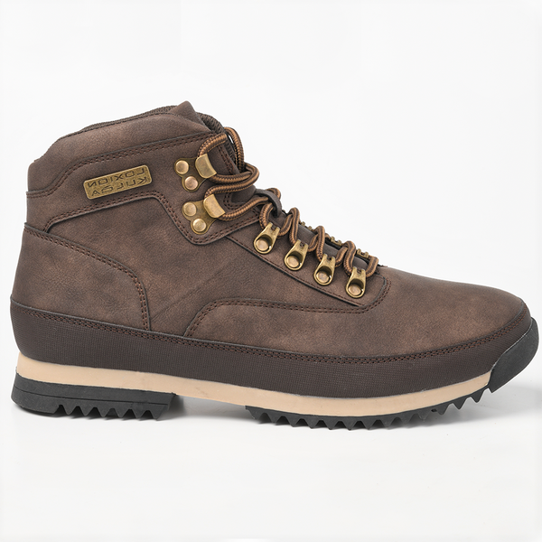 Loxion Kulca Men's Tristan Lace Up High Top Boot - Brown