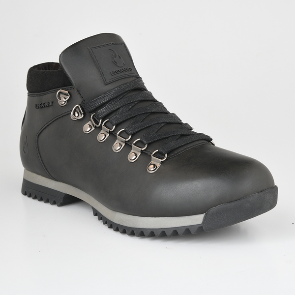 Urban Art Men's Barnett Lace Up High Top Boot - Black