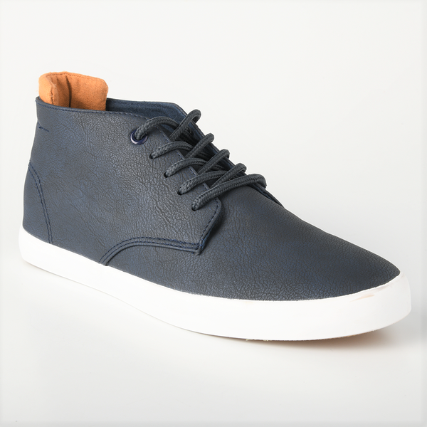 Loxion Kulca Men's Grayson Lace Up Chukka Boots - Navy/Brown