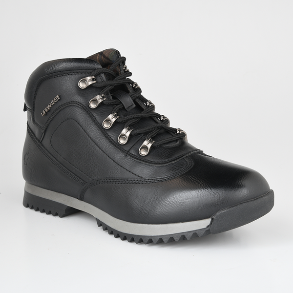 Urban Art Men's Brent Lace Up High Top Hiker Boot - Black